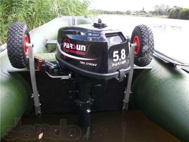 установка транцевых колес на лодку пвх ривьера 320 видео
