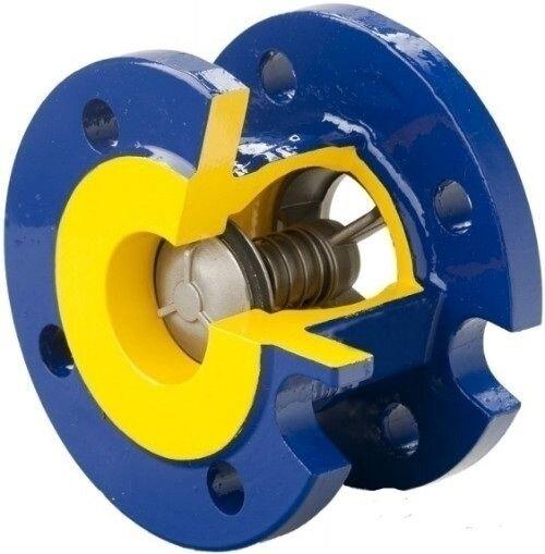 Клапан запорный zetkama v 215 ду100 ру16 фланцевый