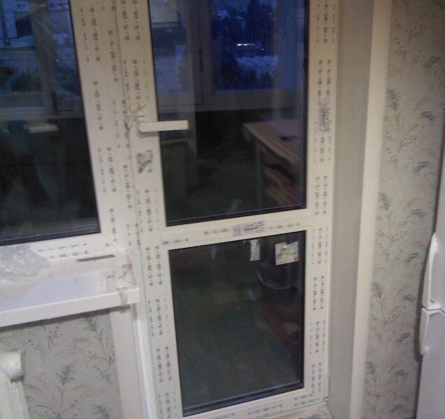 Замена стеклопакет в двери балкона. - балконные двери как вы.
