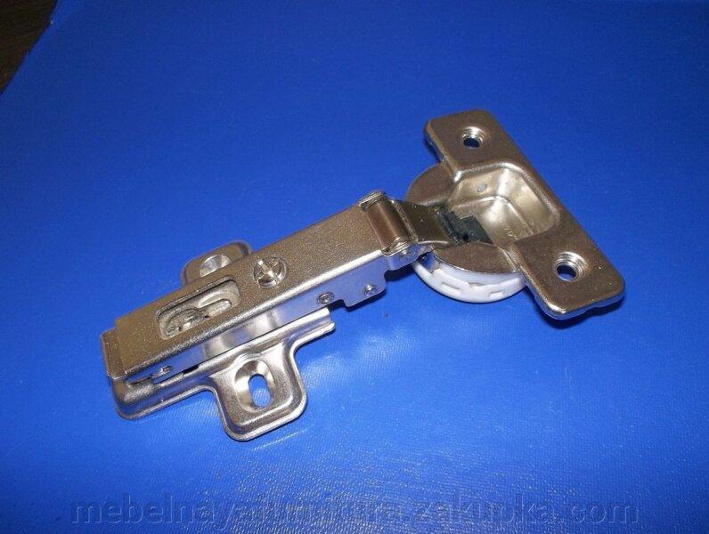 Петля 45 угловая с доводчиком, отделка титаниум