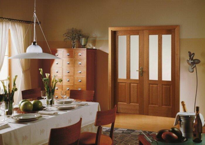 Межкомнатные двойные (двупольные) двери, распашные - фото Двойные двери , цена