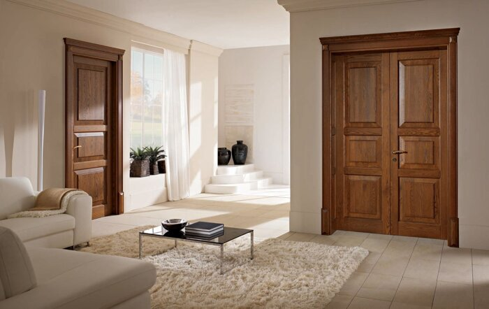 Межкомнатные двойные (двупольные) двери, распашные - фото Двери в наличии и под заказ