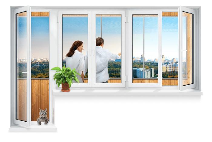 пластиковые окна на балкон цена
