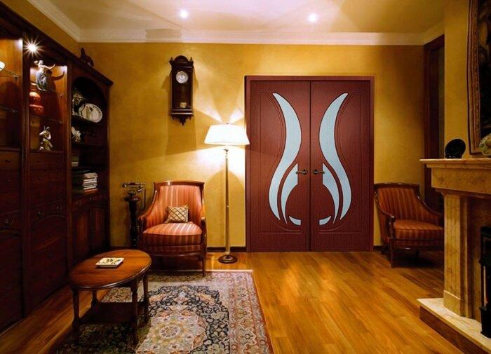 Межкомнатные двойные (двупольные) двери, распашные - фото Двойные двери
