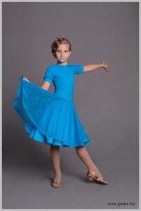 b5085bb56e8 Платье для спортивно-бальных танцев с гипюром