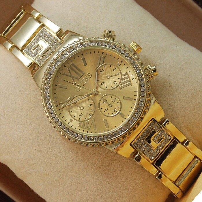 Часы Guess Gold diamond со стразами циферблат белый, черный Днепропетровск - изображение 1. Реклама на сайте