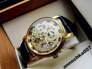 Механические часы Winner Gold Ориганал,механика Винер Золотые,мужские часы уникальный дизайн,купить