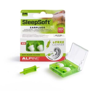 Беруши для сна Alpine Hearing Protection Sleepsoft Minigrip + Venitex  + ШЕЛКовая маска (3 в 1) от компании Беруши-маркет №1 - фото