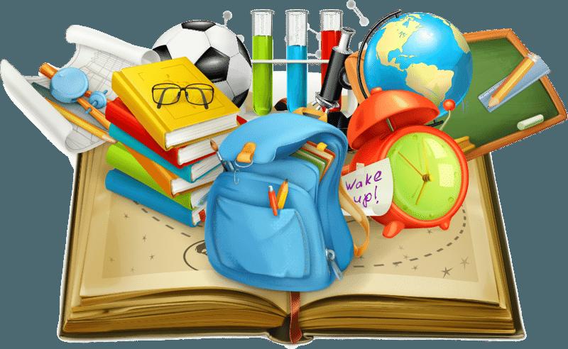 Картинка школа и школьные принадлежности