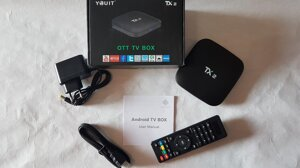 Смарт ТВ приставка TANIX TX2 2Gb + 16G Android 6.0.1 Android TV box медиаплеер для телевизора