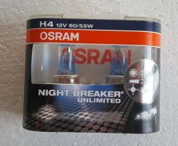 "Лампочка галогенна H4 P43t 12V-60/55Вт (Osram ) ""+110"" (Night Breaker Unlimited)"
