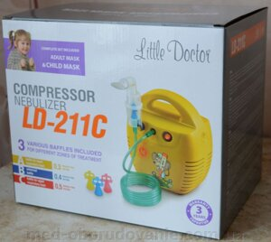 Ингалятор  компрессорный Little Doctor LD-211C (желтый) от компании Med-oborudovanie - фото