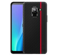 Чехол накладка Primo Cenmaso для Samsung Galaxy A8 2018 ( SM-A530 ) - Black&Red