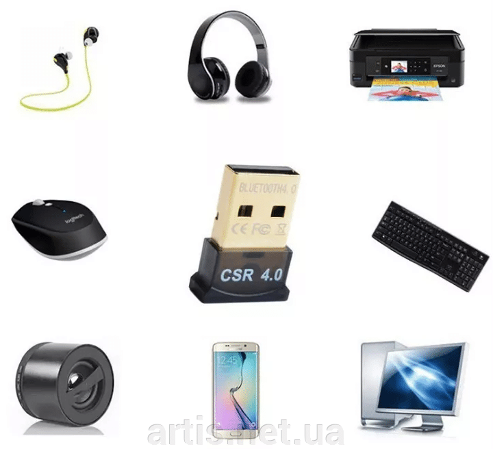 USB Bluetooth v4.0 адаптер. мини блютуз CSR 8510 adapter ##от компании## Интернет - магазин Artis - ##фото## 1