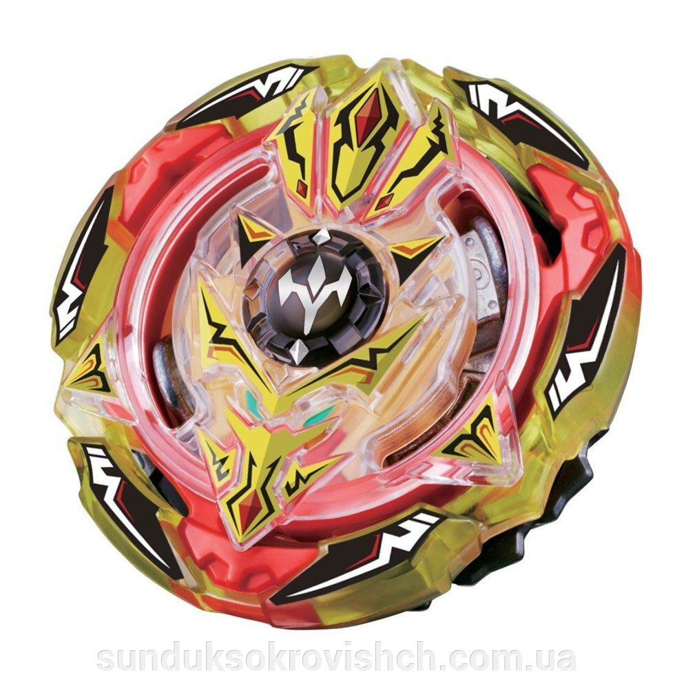 Волчок Beyblade Screw Trident, Скрю Трайден, Трезубец. 4 сезон ##от компании## Сундук - ##фото## 1