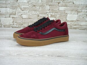 Женские кеды Vans Old Skool bordo, Копия