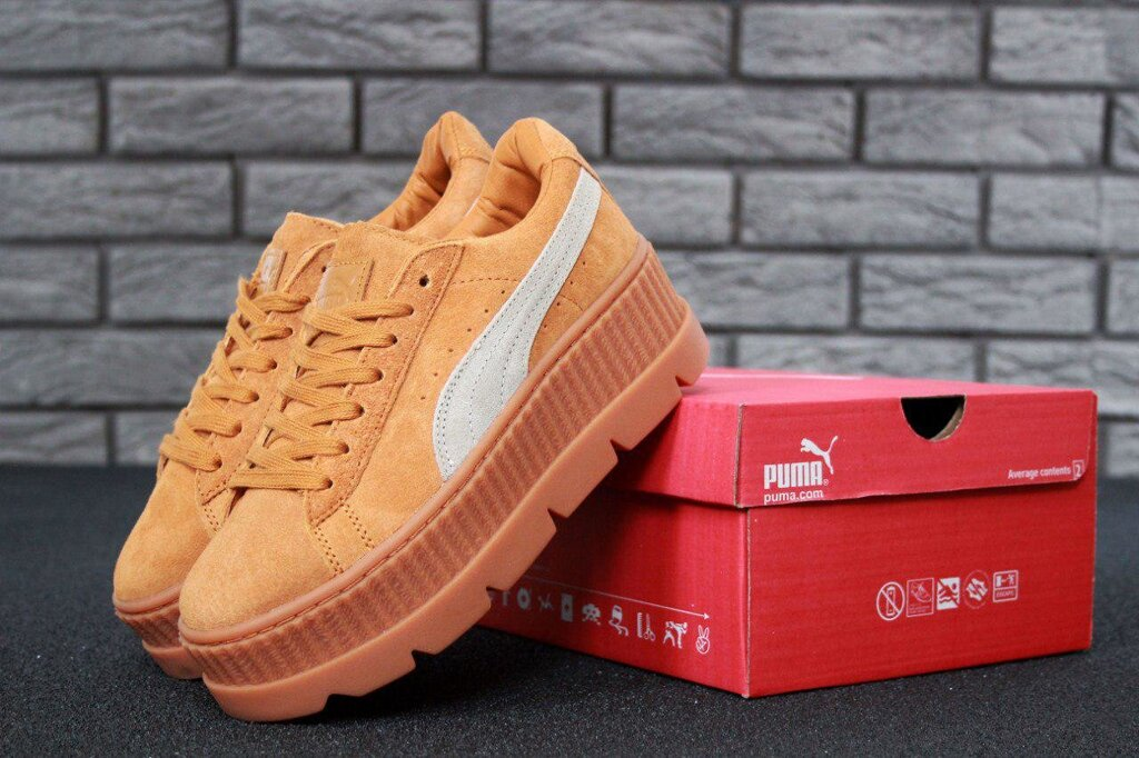Женские кроссовки Rihanna x Puma Fenty Cleated Creeper Реплика ##от компании## ИНТЕРНЕТ-МАГАЗИН «ЕВРО ВКУС» - ##фото## 1