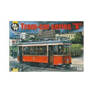 1/72 MILITARY WHEELS 7230 - Tram-car Kh / КХ Советский трамвай от компании Хоббинет. Сборные модели. - фото