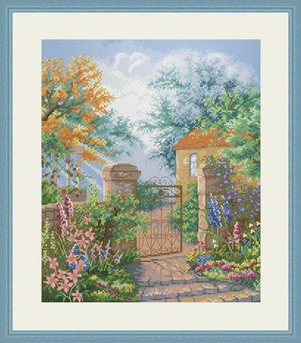 Вышивка калитка в сад купить купить ткань опт мебель