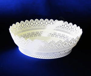 Сухарница ажурная Элиф овал 28,5*21*9,6 см №406 OVAL LACE BASKET в Волынской области от компании Mini-cena