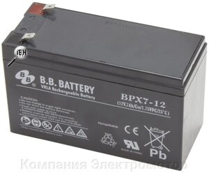 Аккумулятор BB Battery BPX7-12 от компании ПКФ «Электромотор» - фото