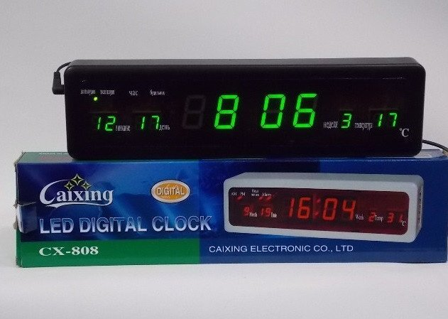 Часы led digital clock ##от компании## MegaBOX - ##фото## 1
