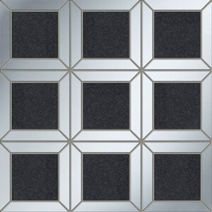 Lucid square black 29,8x29,8 мозаика Tubadzin