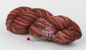 Пряжа Aade Long Kauni Artisric Yarn 8/2 Кауни Арстистик Ярн 8/2, коричнево-розовый, цена за 100 грамм