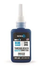 Герметик резьбовых соединений синий Nowax Threadlocker Blue NX21159 (50мл.) США