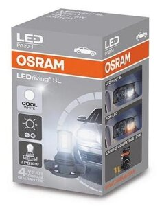 Автолампы OSRAM LEDriving PS19W LED 12V 1.8W PG20/1 (3301CW)