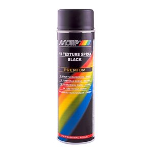 Аэрозольная эмаль однокомпонентная текстурная для пластика MOTIP 1K Texture Spray Black (аэрозоль 500мл)