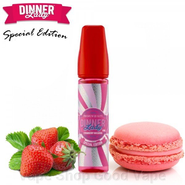 Dinner Lady - Strawberry Macaroon ##от компании## Vape Shop Good Vape - ##фото## 1