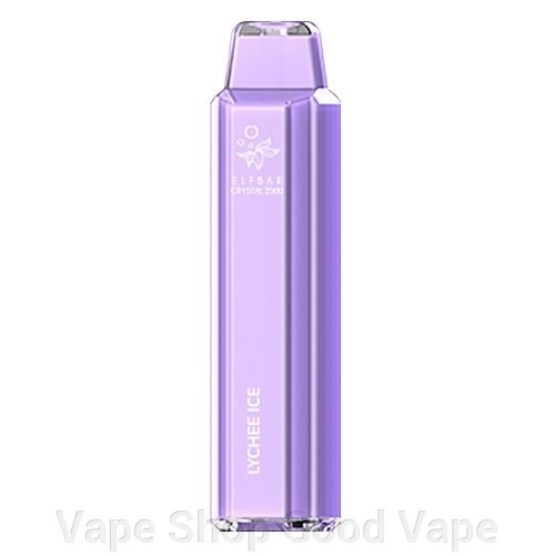 Elf Bar Crystal 2500  Lychee Ice ##от компании## Vape Shop Good Vape - ##фото## 1