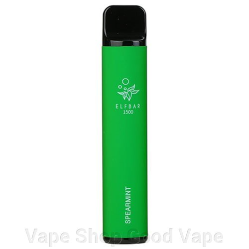 Одноразовый Pod Elf Bar 1500 Disposable Device 850mAh Spearmint 5% ##от компании## Vape Shop Good Vape - ##фото## 1