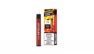 Vaporlax Aero 800 - Strawberry Banana в Киеве от компании Vape Shop Good Vape