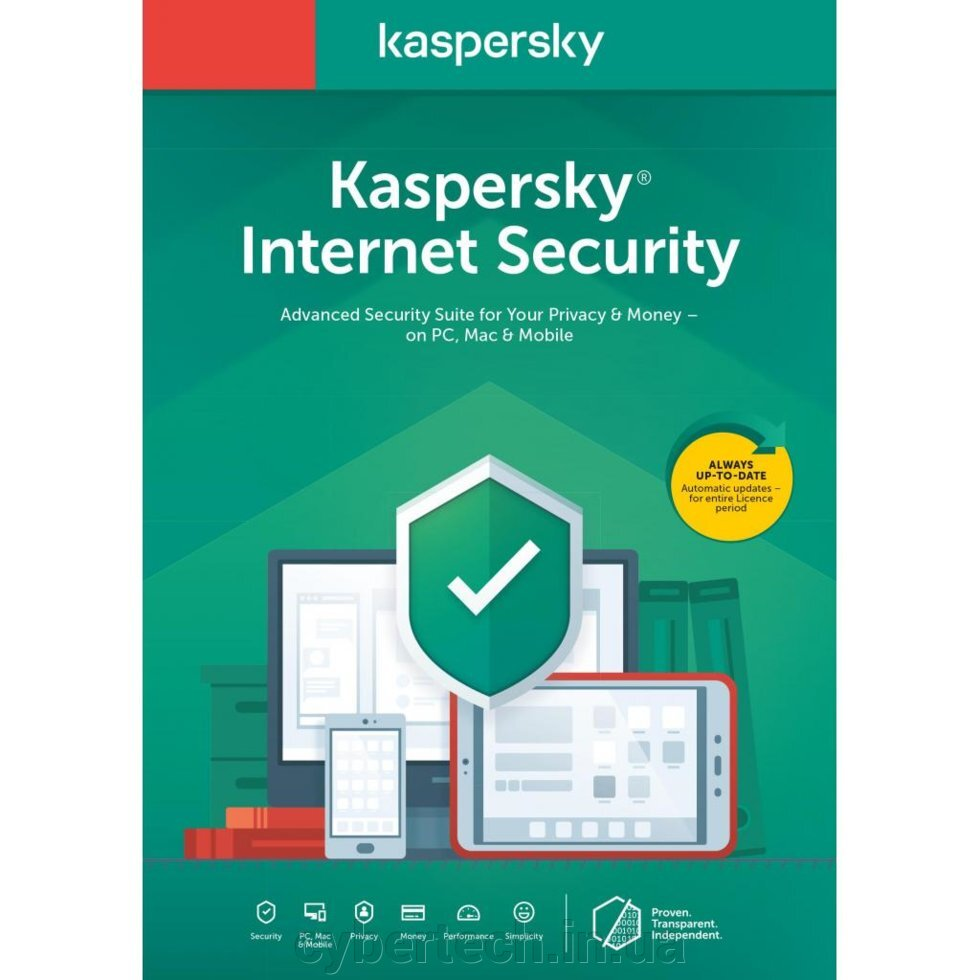 АНТИВИРУС KASPERSKY INTERNET SECURITY MULTI-DEVICE 2020 2 ПК 1 ГОД BASE BOX (DVD (5056244903312) ##от компании## CyberTech - ##фото## 1