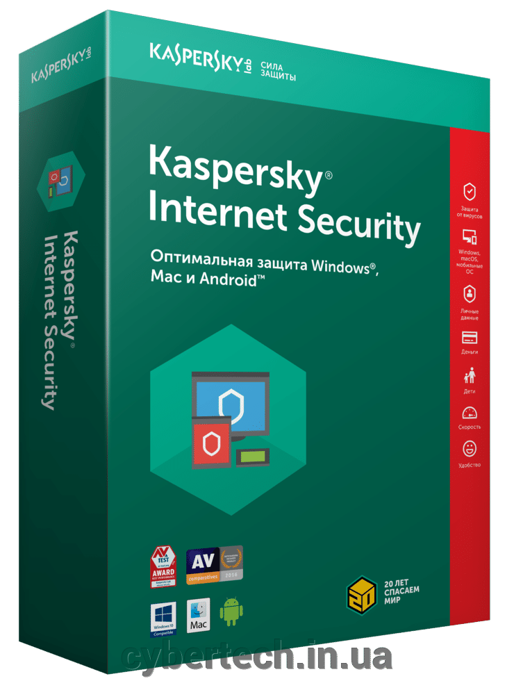 Kaspersky Internet Security European Edition. 4-Device 1 year Renewal License Pack ##от компании## CyberTech - ##фото## 1