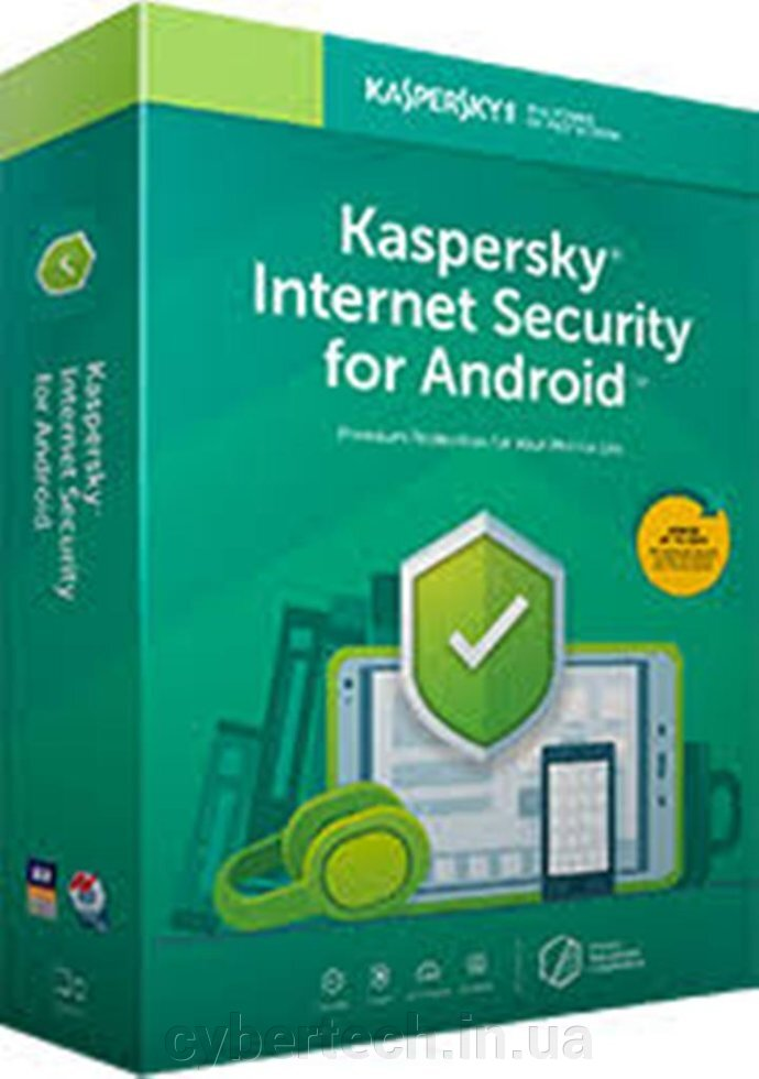 Kaspersky Internet Security for Android European Edition. 3-Mobile device 1 year Renewal License Pack ##от компании## CyberTech - ##фото## 1