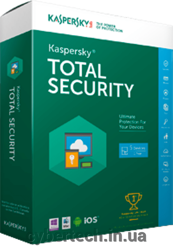 Kaspersky Total Security European Edition. 5-Device; 2-Account KPM; 1-Account KSK 2 year Base License Pack ##от компании## CyberTech - ##фото## 1