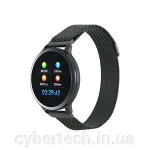"Умные часы Canyon CNS-SW71 Black; 1.22"" (240х240) сенсорный / Bluetooth 4.0 / 48 х 42.5 х 12 мм / IP68 / 150 мАч від компанії CyberTech - фото"