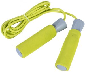 Скакалка LiveUp PVC Foam Handle Jump Rope желтая