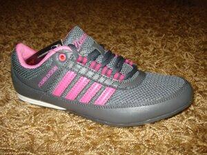 ed4c99bad Женские летние кроссовки (сетка лето) серый + розовый (39) от компании Обувь