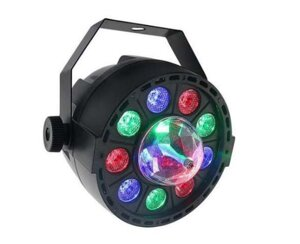PL-99C Mini New Light, LED PAR LIGHT 9*1W with crystall ball в Харьковской области от компании DiscoShop