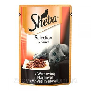 Sheba Selection in Sauce (пауч) Консервы для кошек с говядиной в соусе / 85 гр