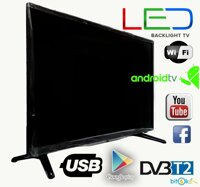"Телевизор LED backlight tv L 56"" Smart TV WiFi, T2, USB/SD, HDMI, VGA, Android"