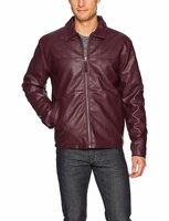 Куртка мужская, экокожа, U. S. Polo Assn. Standard Trucker Jacket, East Burgundy, размер 3X