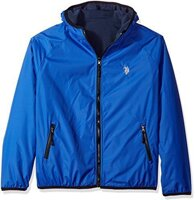 "Мужская куртка U. S. Polo Assn. Men""s Reversible Softshell To Fleece Hoodie, China Blue, 2X"