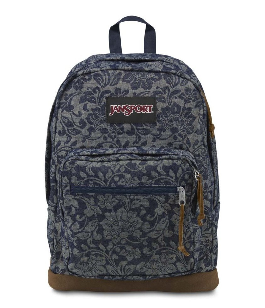 "Рюкзак JanSport Right Pack Backpack  (Blue Floral Sparkle Jacquard - Expressions) ##от компании## Интернет магазин ""Канбан"" - ##фото## 1"