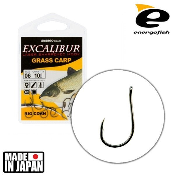 Крючок Excalibur Grass Carp Big Corn NS №2 ##от компании## Carp Expert - ##фото## 1