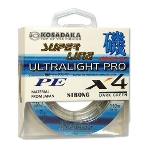 Шнур Kosadaka Ultra Pro X4 0.10mm 110m Dark Green